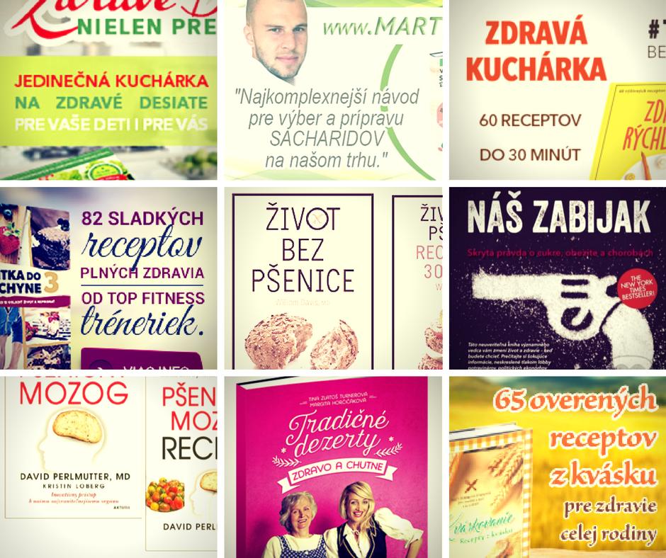 knihy o zdravom pečení, varení, stravovaní a výžive.