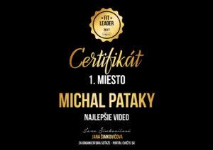 michal pataky - fitleader 2017 certifikat