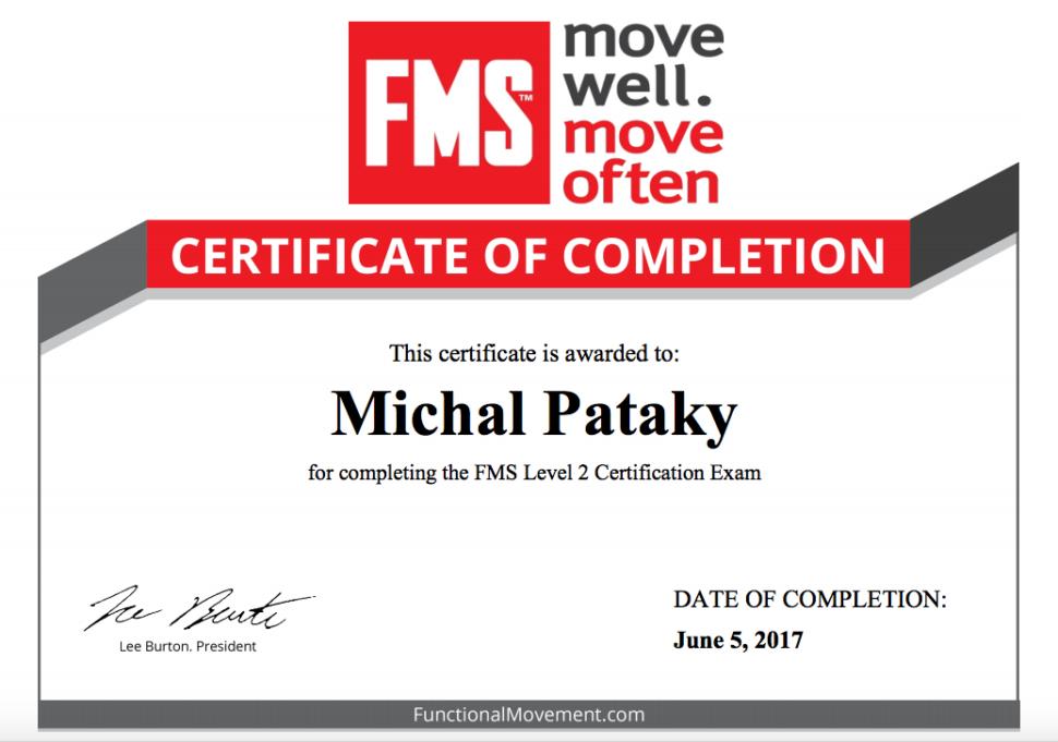 FMS 2 certifikat
