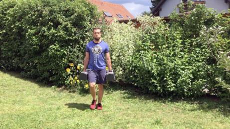 farmárska chôdza s jednoručkami